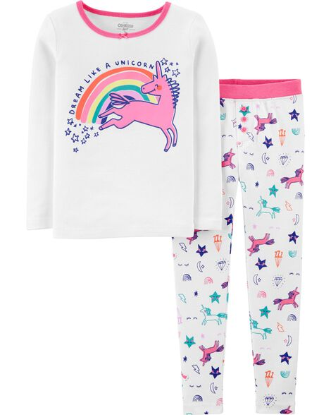 2-Piece Snug Fit Unicorn PJs