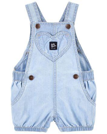 Soft Cinched Heart Pocket Shortalls