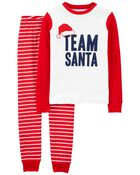 2-Piece Holiday 100% Snug Fit Cotton PJs, , hi-res