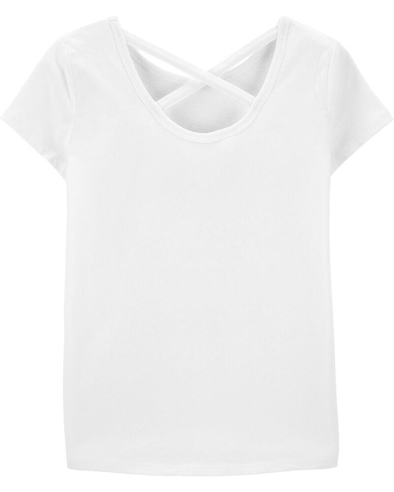 T-shirt en jersey noué devant avec chien planchiste scintillant, , hi-res