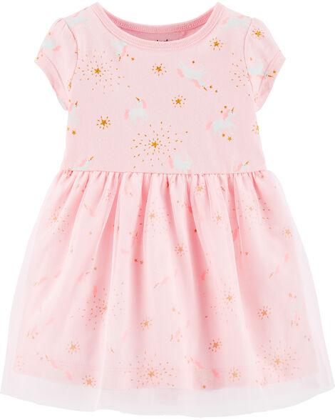Unicorn Jersey Tutu Dress