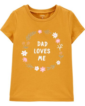 T-shirt en jersey Daddy Loves Me