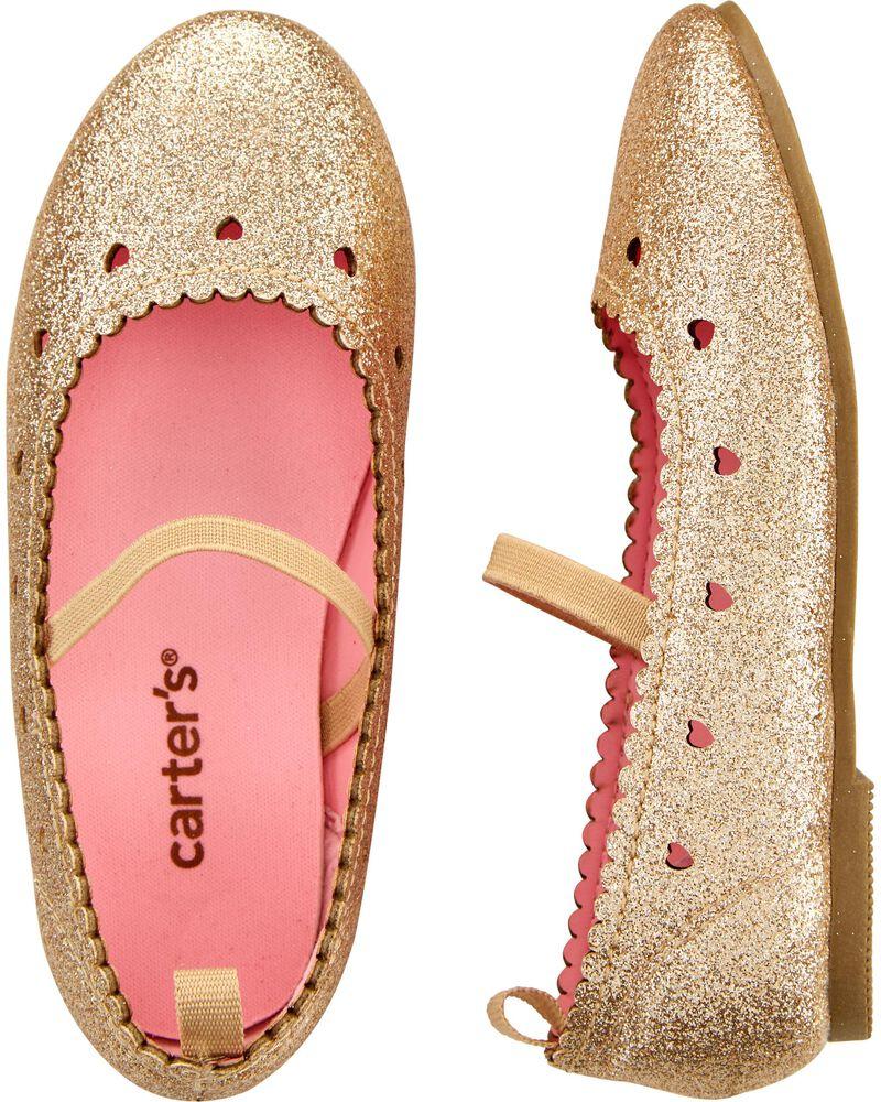 Glitter Ballet Flats, , hi-res