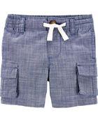 Chambray Cargo Shorts, , hi-res