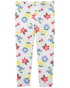 Floral Capri Leggings, , hi-res