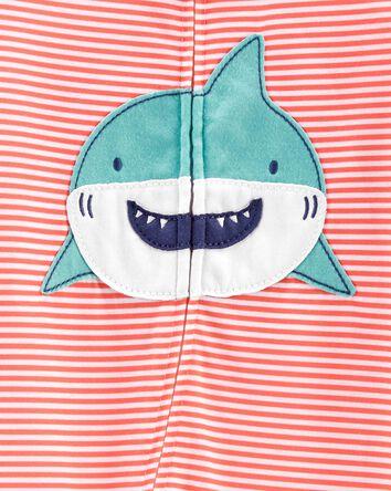 1-Piece Shark Loose Fit Footie PJs