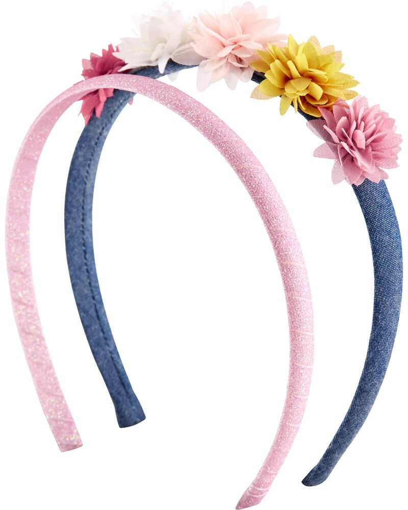 2-Pack Floral Headbands, , hi-res