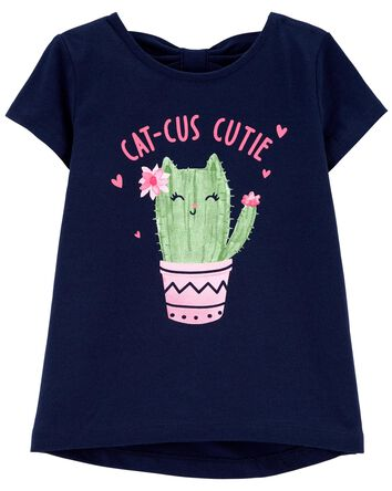 T-shirt en jersey à motif de cactus
