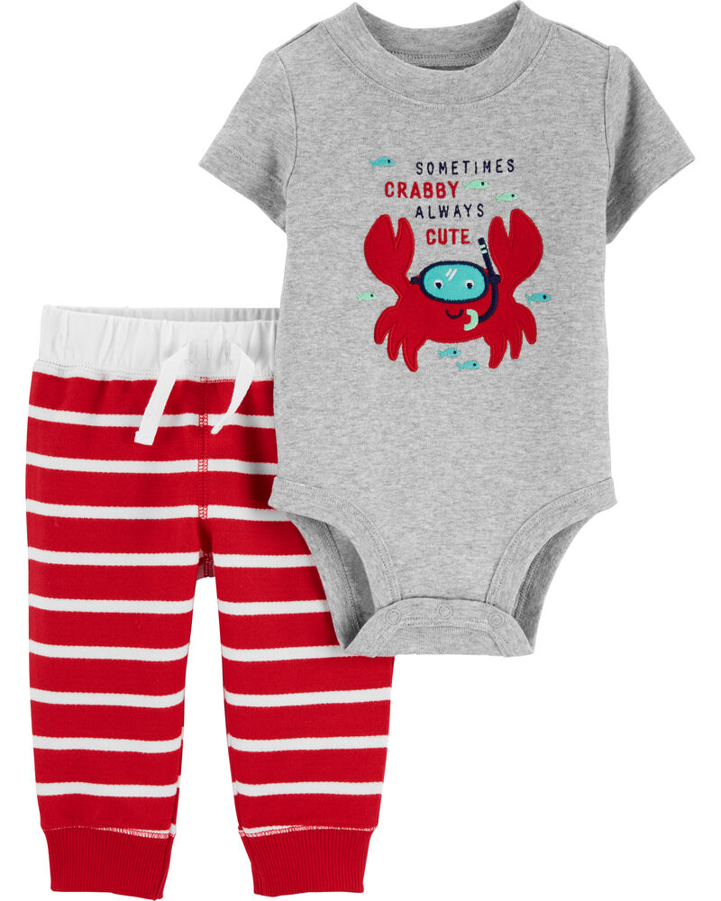 2-Piece Crab Bodysuit Pant Set, , hi-res