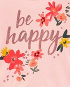 Be Happy Peplum Jersey Tee, , hi-res