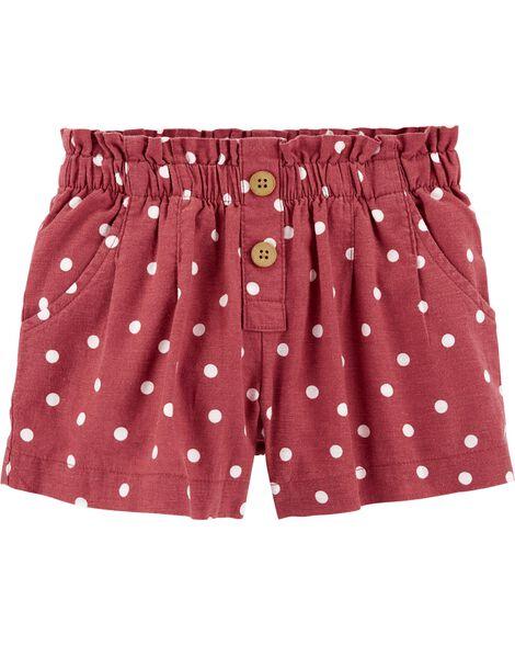 Polka Dot Linen Shorts