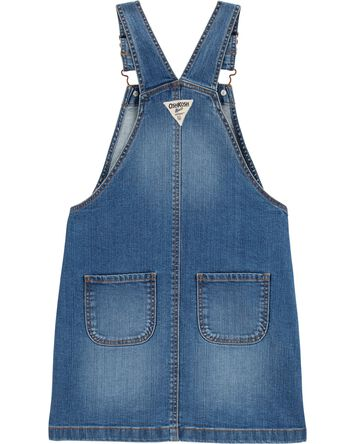 Robe chasuble en denim extensible à...