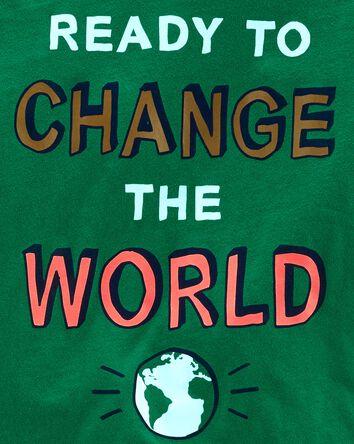 T-shirt en jersey Change The World