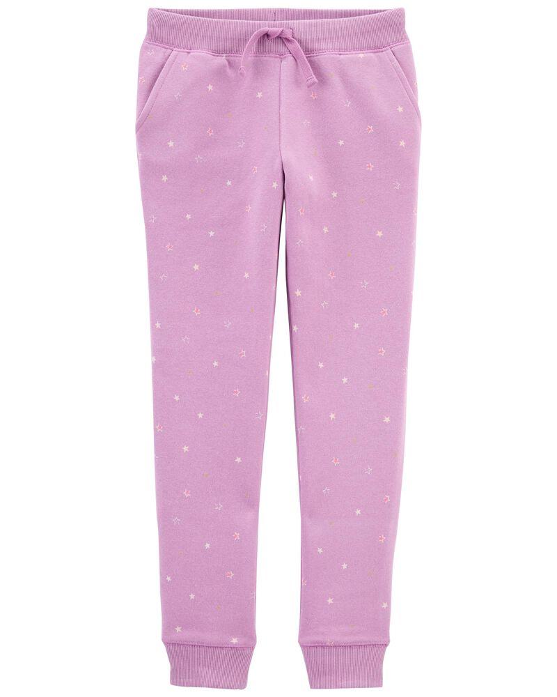 Pantalon molletonné à logo et étoile, , hi-res