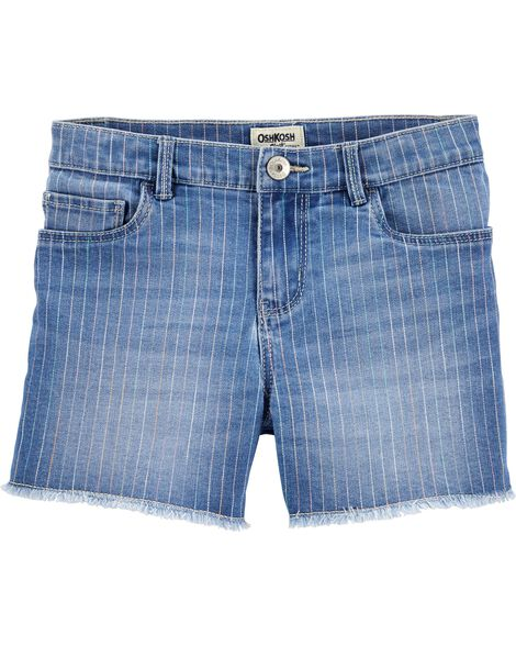 Short en denim extensible arc-en-ciel