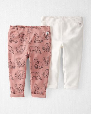 2-Pack Organic Cotton Rib Pants
