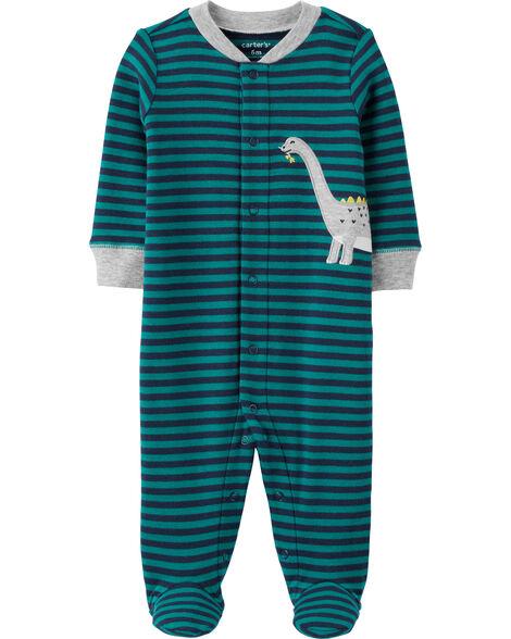 Dinosaur Snap-Up Cotton Sleep & Play