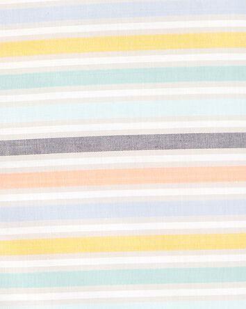2-Piece Striped Button-Front & Cham...