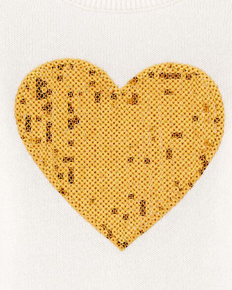 Chandail à cœur en paillettes