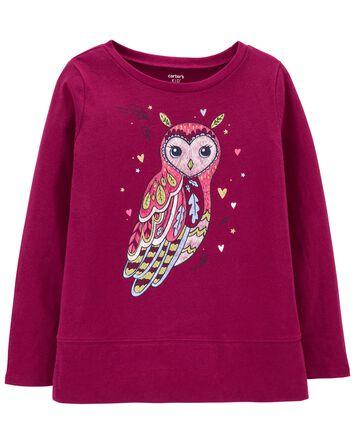 Owl Jersey Top