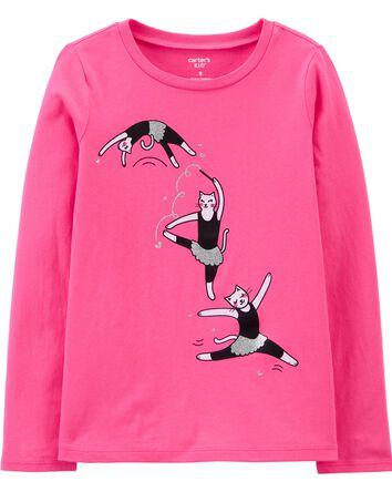 T-shirt en jersey à chat ballerine