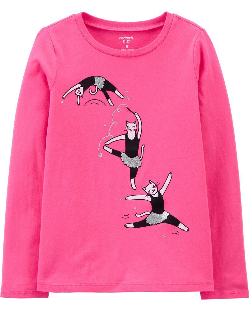 Ballerina Cat Jersey Tee, , hi-res