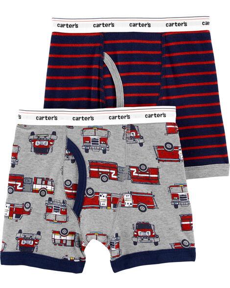 2-Pack Cotton Boxer Briefs