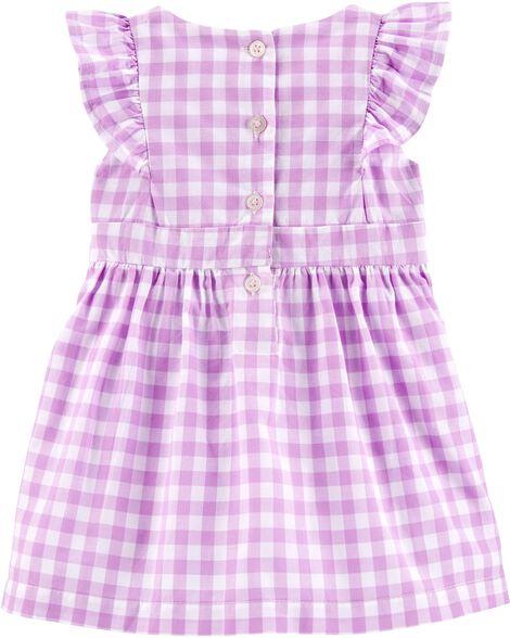 Gingham Flutter Dress