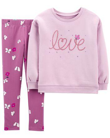 2-Piece Love Fleece Top & Legging S...