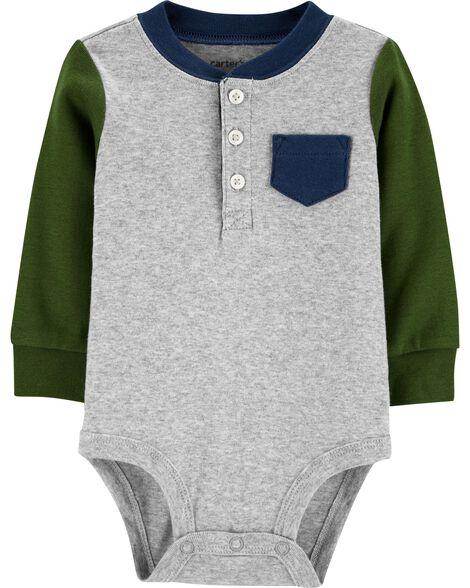 Pocket Henley Bodysuit