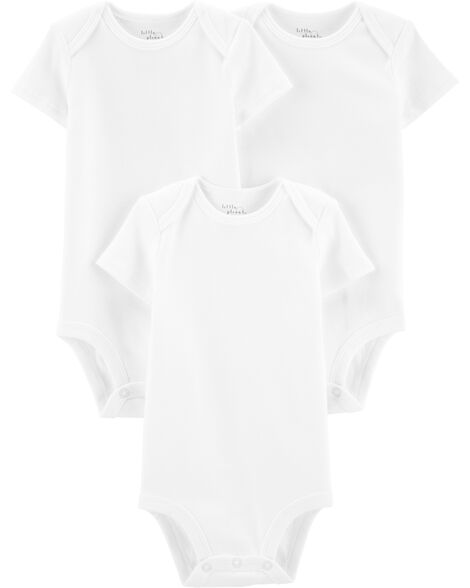 3-Pack Certified Organic Cotton Bodysuits