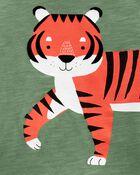 Ensemble 2 pièces t-shirt en jersey à tigre et short , , hi-res