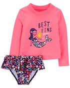 Mermaid 2-Piece Rashguard Set, , hi-res