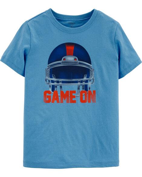 Football Helmet Jersey Tee