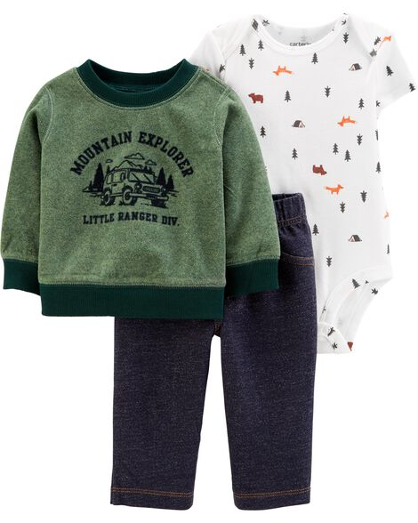 3-Piece Camping Little Pullover Set