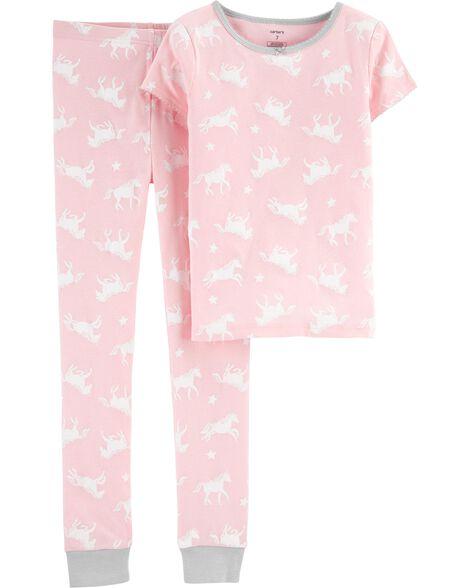 2-Piece Unicorn Snug Fit Cotton PJs