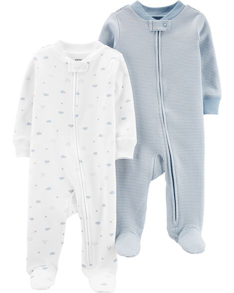 2-Pack Zip-Up Cotton Sleep & Plays