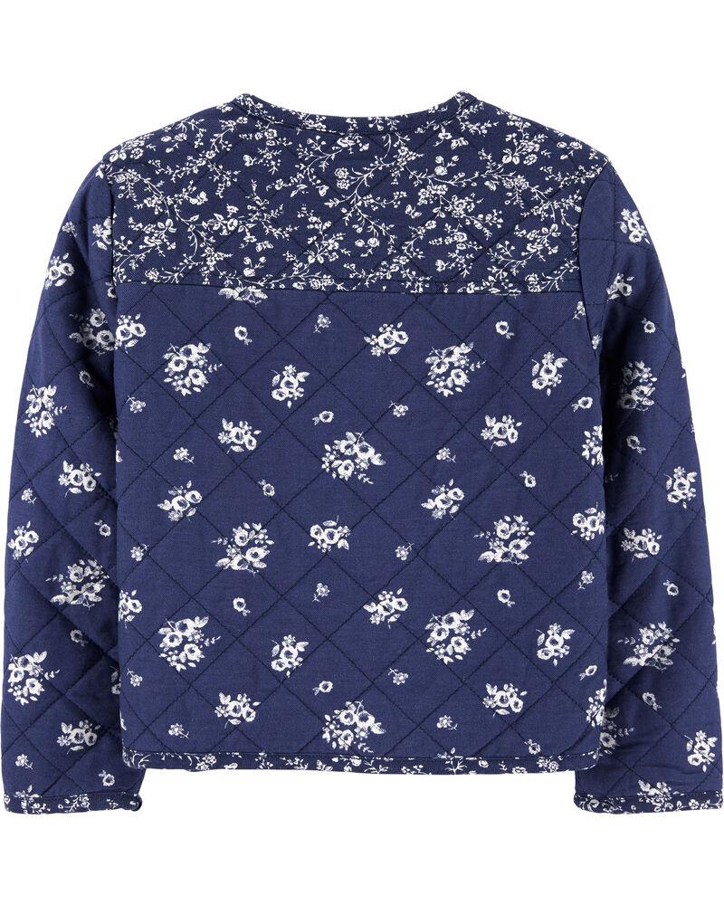 Quilted Floral Bomber Jacket, , hi-res