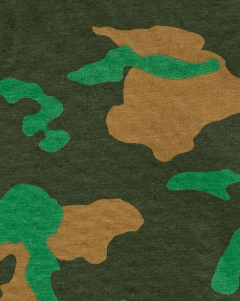 Pyjamas 4 pièces en coton ajusté à motif de dinosaure