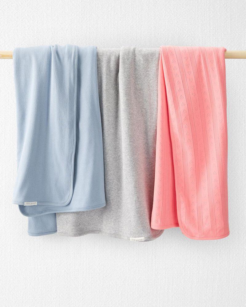 Organic Cotton Pointelle Blanket, , hi-res