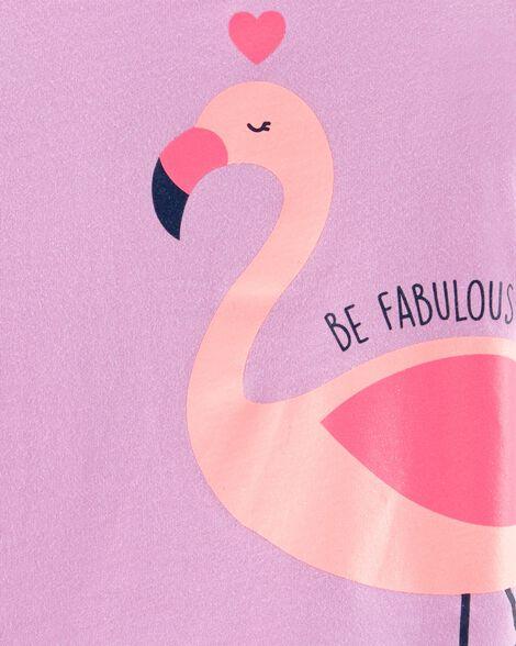 Glitter Fabulous Flamingo Jersey Tee