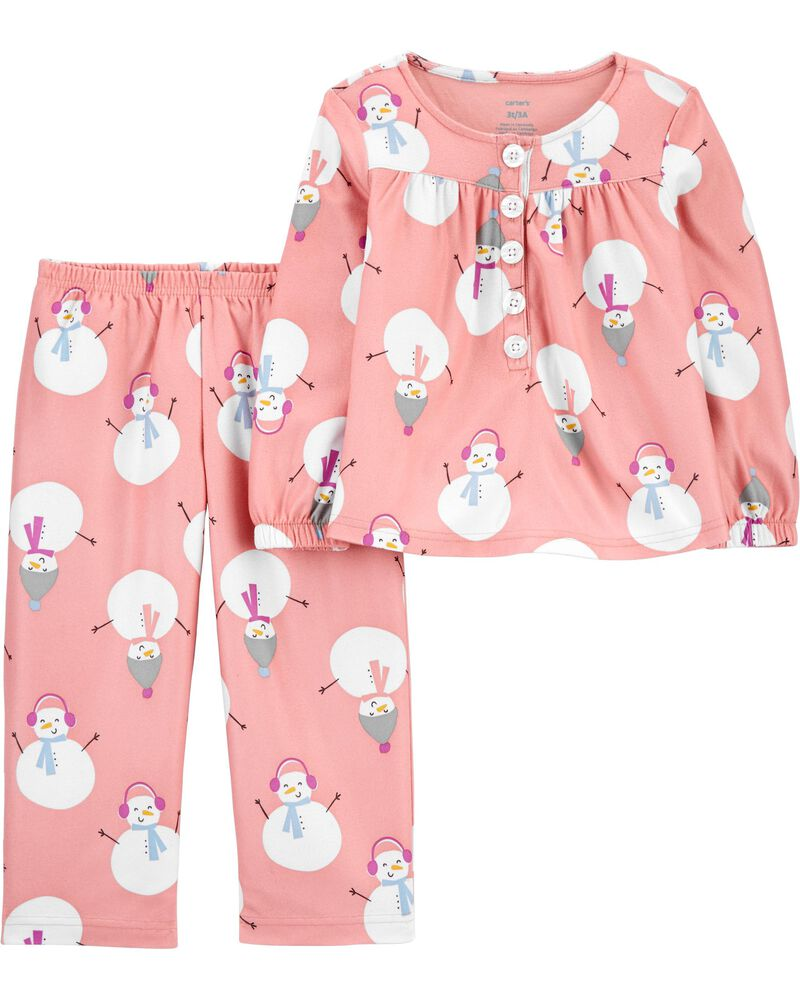 Pyjama 2 pièces à bonhomme de neige, , hi-res