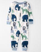 Pyjama 1 pièce en coton biologique, , hi-res