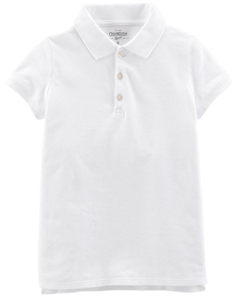 Stretch Pique Uniform Polo, , hi-res