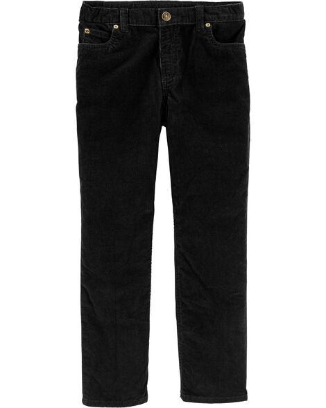 Pantalon à 5 poches en velours côtelé