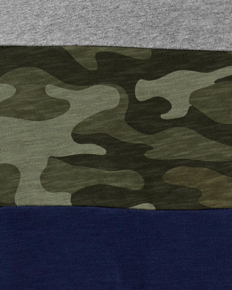 Colourblock Camo Jersey Tee, , hi-res