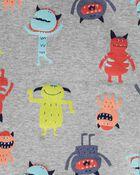 4-Piece Monster Snug Fit Cotton PJs, , hi-res