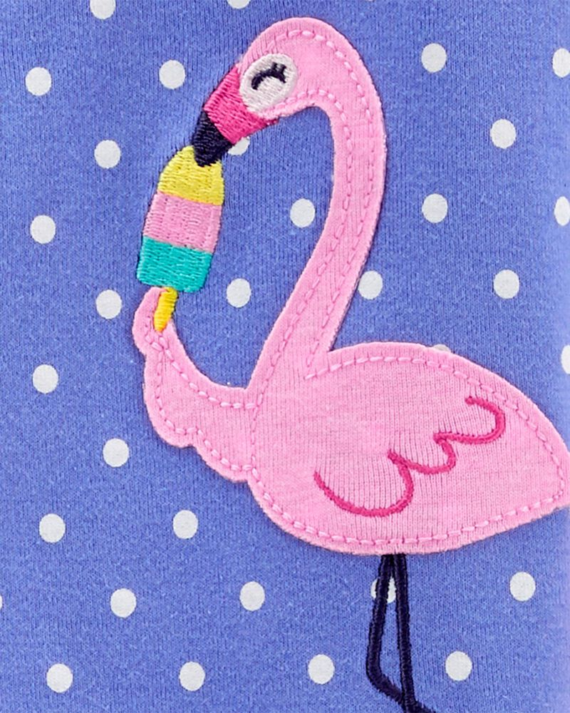 Pyjama 1 pièce à pieds en coton ajusté à pélican, , hi-res