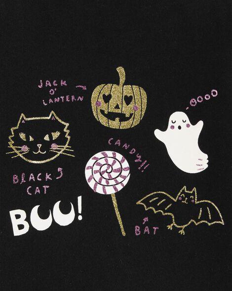T-shirt en jersey scintillant d'Halloween