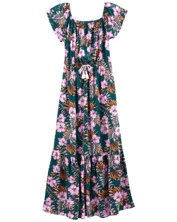 Robe surdimensionée tropicale Tween